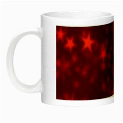 Blurry Stars Red Night Luminous Mugs by MoreColorsinLife