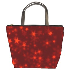 Blurry Stars Red Bucket Bags by MoreColorsinLife