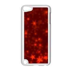 Blurry Stars Red Apple Ipod Touch 5 Case (white) by MoreColorsinLife