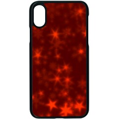 Blurry Stars Red Apple Iphone X Seamless Case (black)