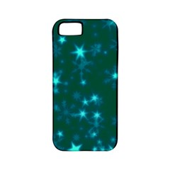 Blurry Stars Teal Apple Iphone 5 Classic Hardshell Case (pc+silicone) by MoreColorsinLife