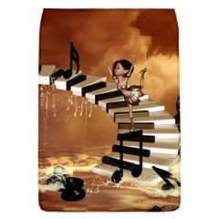 Cute Little Girl Dancing On A Piano Flap Covers (l)  by FantasyWorld7