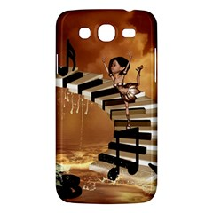Cute Little Girl Dancing On A Piano Samsung Galaxy Mega 5 8 I9152 Hardshell Case  by FantasyWorld7
