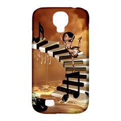 Cute Little Girl Dancing On A Piano Samsung Galaxy S4 Classic Hardshell Case (pc+silicone) by FantasyWorld7