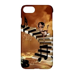 Cute Little Girl Dancing On A Piano Apple Iphone 8 Hardshell Case