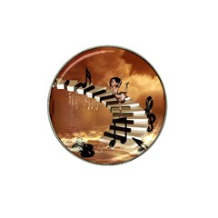 Cute Little Girl Dancing On A Piano Hat Clip Ball Marker (10 Pack) by FantasyWorld7