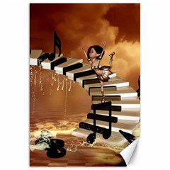 Cute Little Girl Dancing On A Piano Canvas 20  X 30   by FantasyWorld7