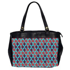 Rhomboids Pattern 2 Office Handbags (2 Sides)  by Cveti