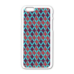 Rhomboids Pattern 2 Apple Iphone 6/6s White Enamel Case by Cveti