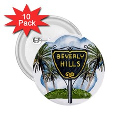 Beverly Hills 2 25  Buttons (10 Pack)  by allthingseveryday