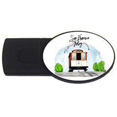 San Francisco Trolley California Bear Usb Flash Drive Oval (2 Gb) by allthingseveryday