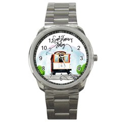 San Francisco Trolley California Bear Sport Metal Watch by allthingseveryday