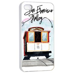 San Francisco Trolley California Bear Apple Iphone 4/4s Seamless Case (white) by allthingseveryday