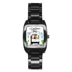 San Francisco Trolley California Bear Stainless Steel Barrel Watch by allthingseveryday