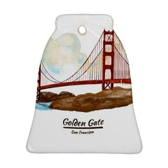 San Francisco Golden Gate Bridge Bell Ornament (two Sides) by allthingseveryday