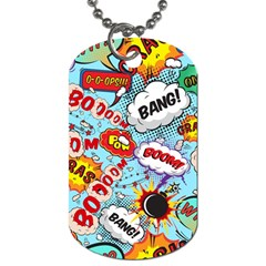 Comic Pattern Dog Tag (two Sides)