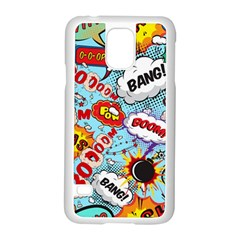 Comic Pattern Samsung Galaxy S5 Case (white) by allthingseveryday