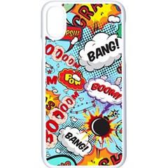 Comic Pattern Apple Iphone X Seamless Case (white) by allthingseveryday