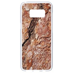 Tree Bark C Samsung Galaxy S8 White Seamless Case by MoreColorsinLife