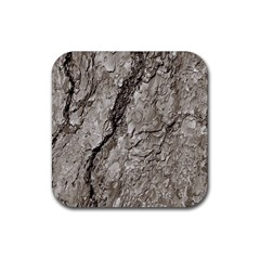 Tree Bark A Rubber Square Coaster (4 Pack)  by MoreColorsinLife