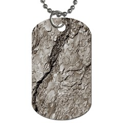Tree Bark A Dog Tag (two Sides) by MoreColorsinLife