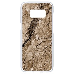 Tree Bark B Samsung Galaxy S8 White Seamless Case by MoreColorsinLife