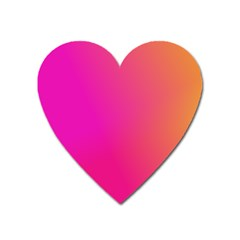Pink Orange Yellow Ombre  Heart Magnet by SimplyColor