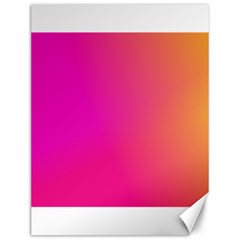Pink Orange Yellow Ombre  Canvas 12  X 16   by SimplyColor