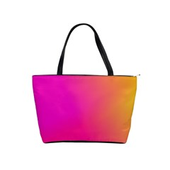 Pink Orange Yellow Ombre  Shoulder Handbags by SimplyColor