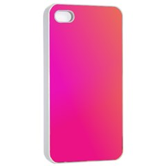 Pink Orange Yellow Ombre  Apple Iphone 4/4s Seamless Case (white) by SimplyColor