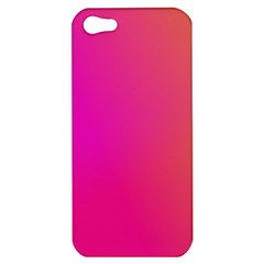 Pink Orange Yellow Ombre  Apple Iphone 5 Hardshell Case by SimplyColor
