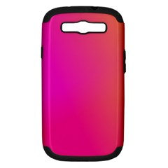 Pink Orange Yellow Ombre  Samsung Galaxy S Iii Hardshell Case (pc+silicone) by SimplyColor