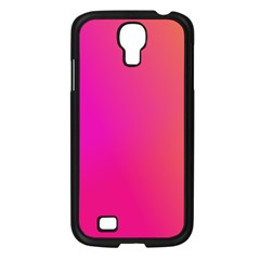 Pink Orange Yellow Ombre  Samsung Galaxy S4 I9500/ I9505 Case (black) by SimplyColor