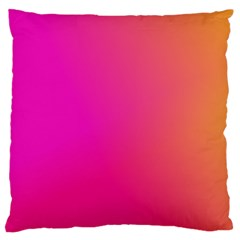 Pink Orange Yellow Ombre  Large Flano Cushion Case (one Side) by SimplyColor