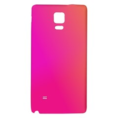 Pink Orange Yellow Ombre  Galaxy Note 4 Back Case by SimplyColor