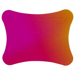 Pink Orange Yellow Ombre  Jigsaw Puzzle Photo Stand (bow) by SimplyColor