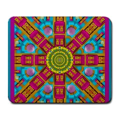 Sunny And Bohemian Sun Shines In Colors Large Mousepads by pepitasart