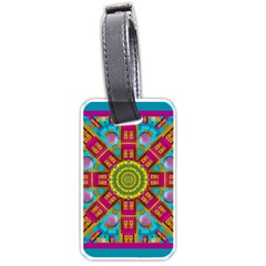 Sunny And Bohemian Sun Shines In Colors Luggage Tags (one Side)  by pepitasart