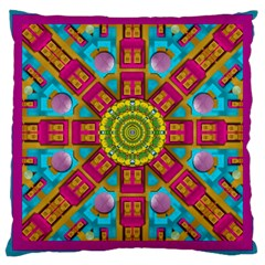 Sunny And Bohemian Sun Shines In Colors Large Cushion Case (one Side) by pepitasart
