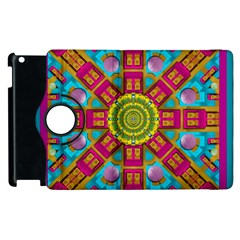 Sunny And Bohemian Sun Shines In Colors Apple Ipad 2 Flip 360 Case by pepitasart