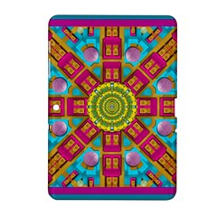 Sunny And Bohemian Sun Shines In Colors Samsung Galaxy Tab 2 (10 1 ) P5100 Hardshell Case  by pepitasart