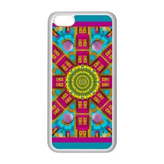 Sunny And Bohemian Sun Shines In Colors Apple Iphone 5c Seamless Case (white) by pepitasart