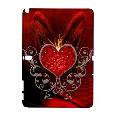 Wonderful Heart With Wings, Decorative Floral Elements Galaxy Note 1 by FantasyWorld7