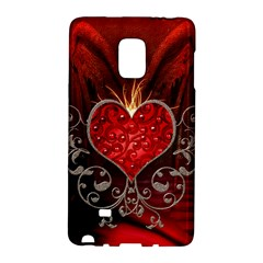Wonderful Heart With Wings, Decorative Floral Elements Galaxy Note Edge by FantasyWorld7