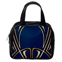 Art Nouveau,vintage,floral,belle Époque,elegant,blue,gold,art Deco,modern,trendy Classic Handbags (one Side) by 8fugoso