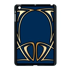 Art Nouveau,vintage,floral,belle Époque,elegant,blue,gold,art Deco,modern,trendy Apple Ipad Mini Case (black) by 8fugoso