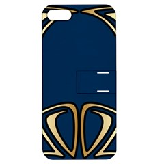 Art Nouveau,vintage,floral,belle Époque,elegant,blue,gold,art Deco,modern,trendy Apple Iphone 5 Hardshell Case With Stand by 8fugoso