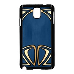 Art Nouveau,vintage,floral,belle Époque,elegant,blue,gold,art Deco,modern,trendy Samsung Galaxy Note 3 Neo Hardshell Case (black) by 8fugoso