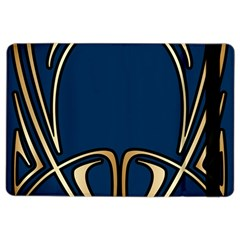 Art Nouveau,vintage,floral,belle Époque,elegant,blue,gold,art Deco,modern,trendy Ipad Air 2 Flip by 8fugoso