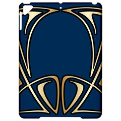 Art Nouveau,vintage,floral,belle Époque,elegant,blue,gold,art Deco,modern,trendy Apple Ipad Pro 9 7   Hardshell Case by 8fugoso